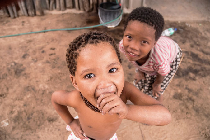 two children, Africa, culture