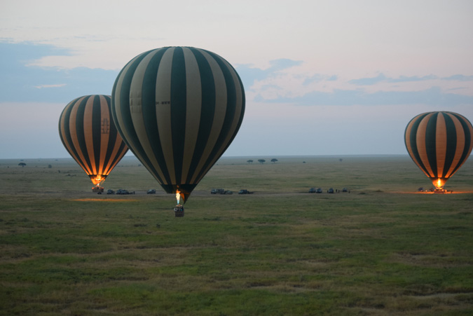 hot air ballooning, Tanzania