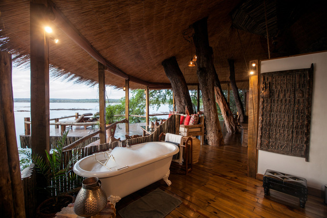 bath, Tongabezi Lodge, Zambia