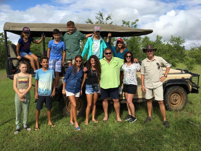 families on safari, Tanzania
