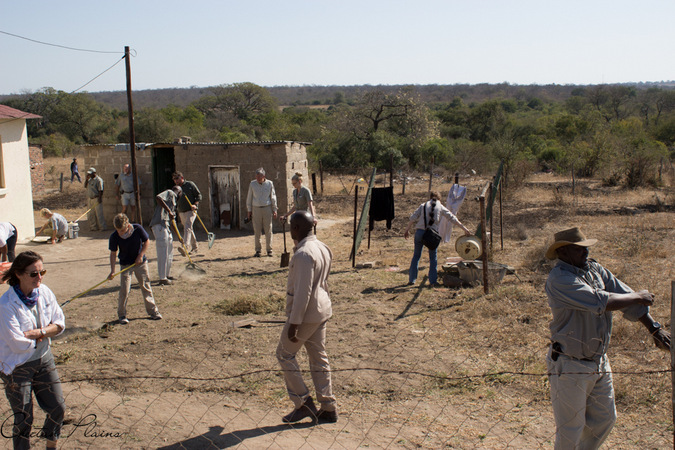 cleaning up on Mandela Day, Sabi Sand, South Africa
