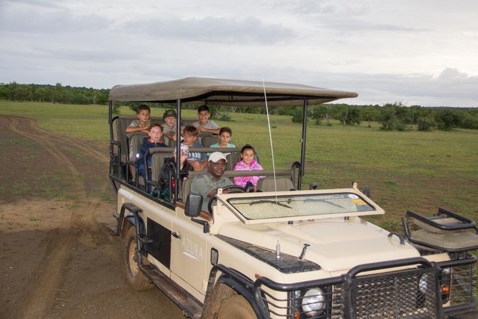 kids on safari, game drive, wildlife, Tanzania