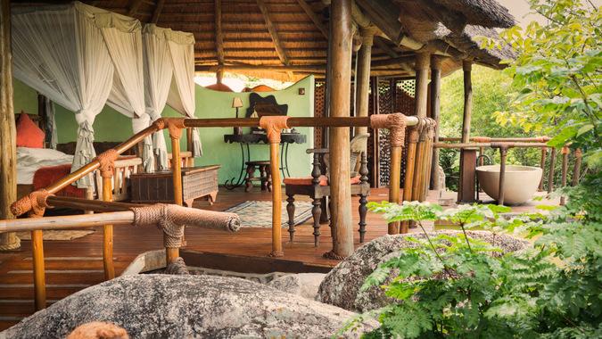 Lupita bedroom with bath, Tanzania
