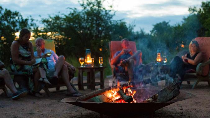 Lupita campfire, Tanzania