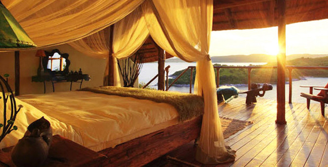 Lupita bedroom with a view, Tanzania