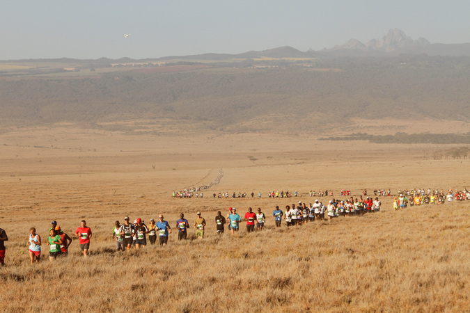 Lewa Safaricom Marathon, Lewa Wildlife conservancy, Kenya