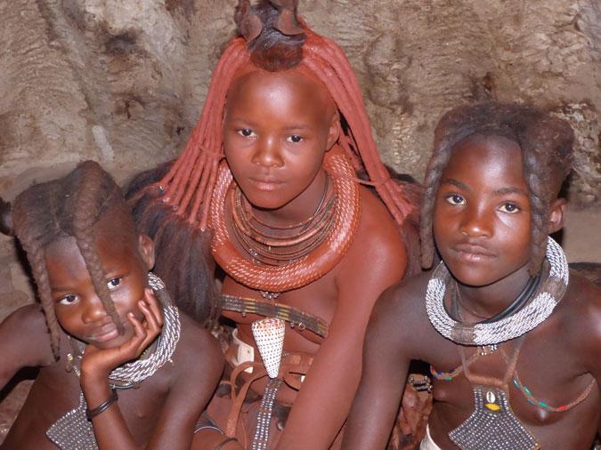 Himba tribe, Kunene River, Namibia
