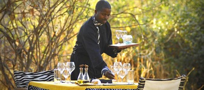 safari waiter, Tanzania