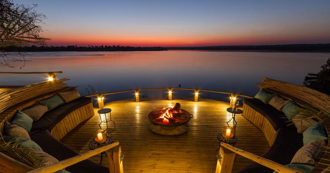 sunken fireplace, Zambia, Zambezi River