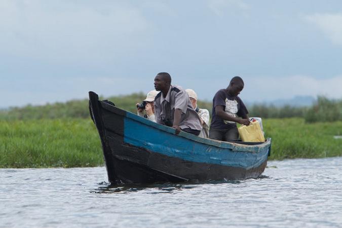 boat, swamp, Uganda