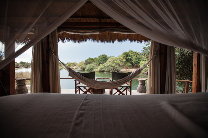hammock, views of river, lodge