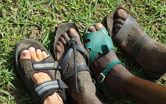 feet, sandals