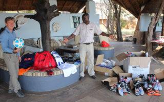 Walter Hörmann, Kafunta Safari Lodge, football donations, South Luangwa, Zambia