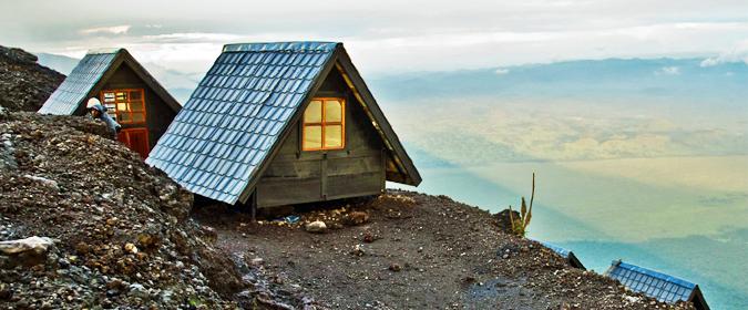 overnight cabins, Mount Nyiragongo, DR Congo