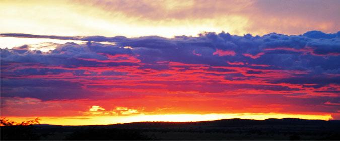 sunset, landscape, Africa