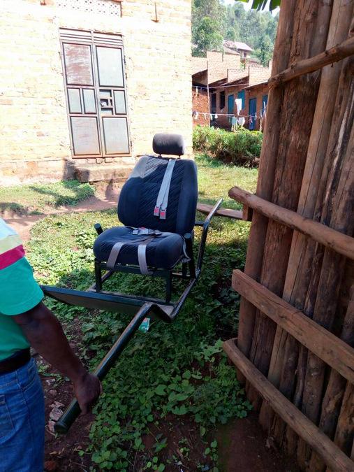 gorilla trekking for disabled people, sedan chair