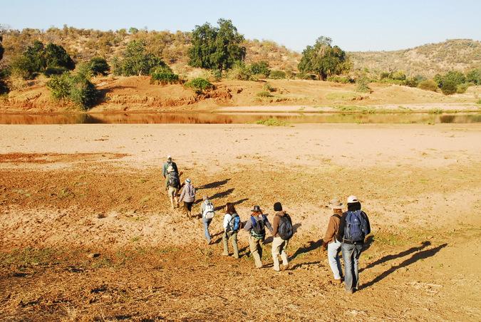 walking safari, South Africa