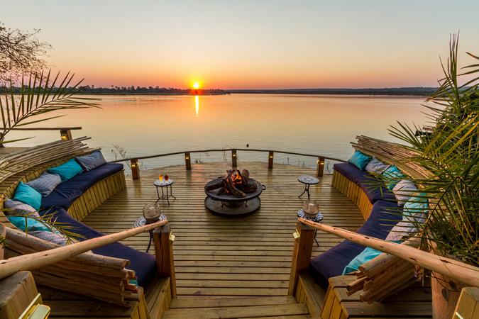 Tongabezi Lodge, Zambia, river, sunset