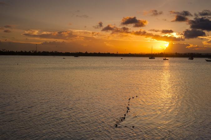 Dar es Salaam, Tanzania, sunset, sea