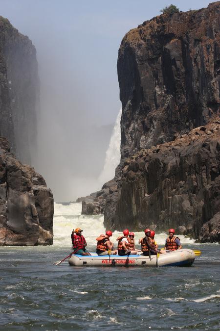 white water rafting, Zambezi River, Zimbabwe