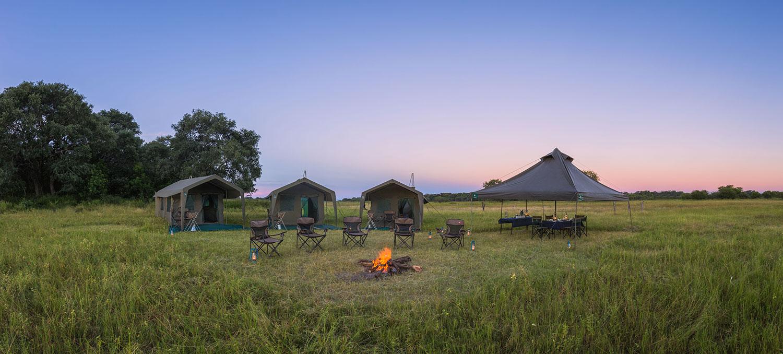 mobile tented safari camp, African safari