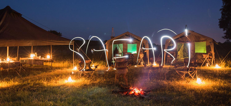 safari, lights, camp, camping, Okavango Expeditions