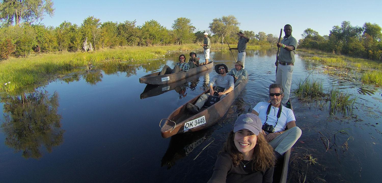 boat, river, mokoro, Khwai River, Botswana, African safari