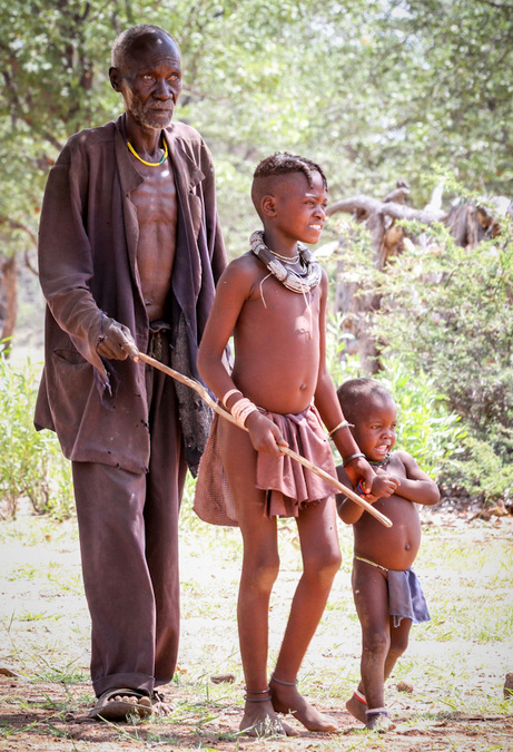 Himba tribe, children, culture, Kunene, Namibia