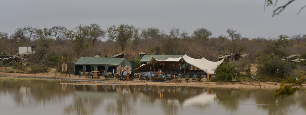 Accommodation on the banks of a river in the bush