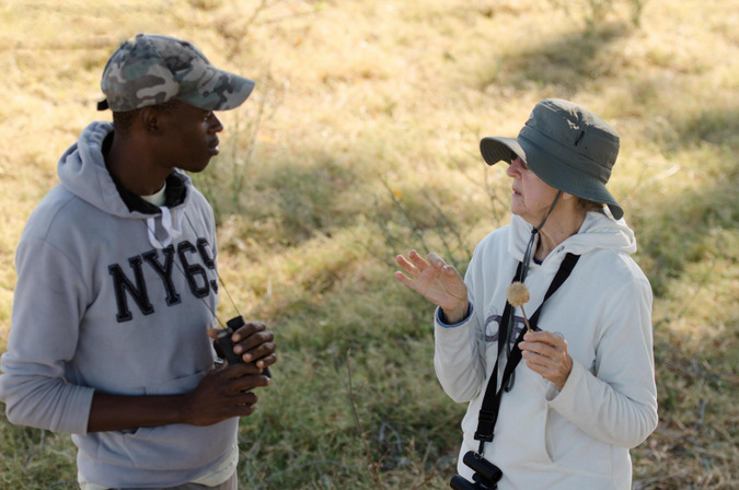 Guide and guest talk about all things Okavango