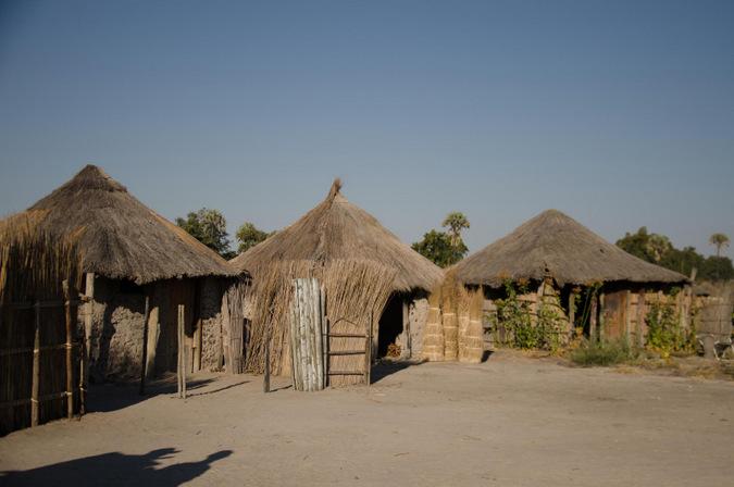 Xaxaba Village in Okavango Delta, Botswana