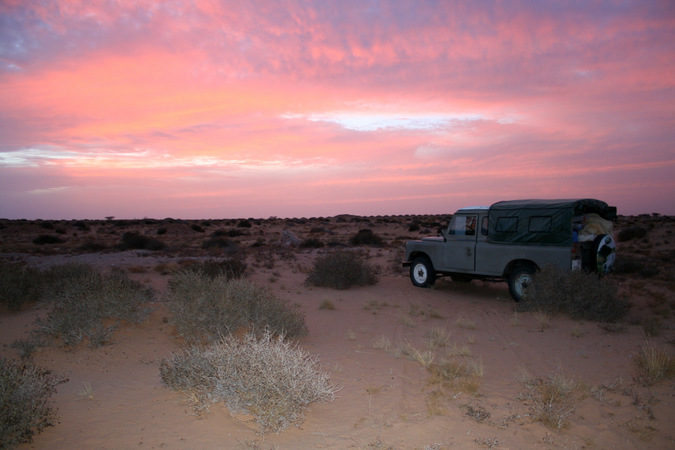 Sunset over the Moroccan Sahara