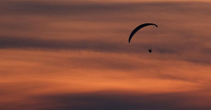 paragliding off Mount Kilimanjaro