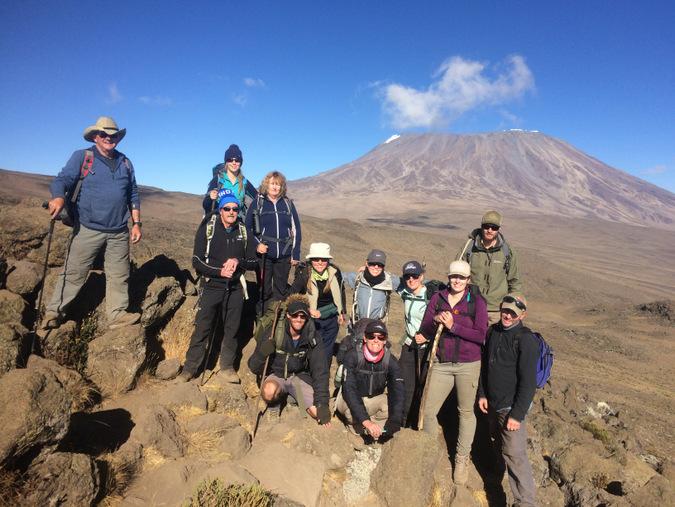 Group photo of hiking group at Mount Kilimanjaro