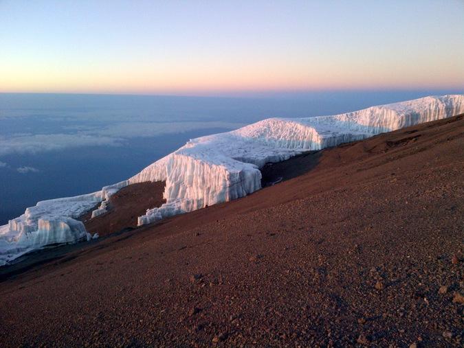 One of Kilimanjaro's glaciers