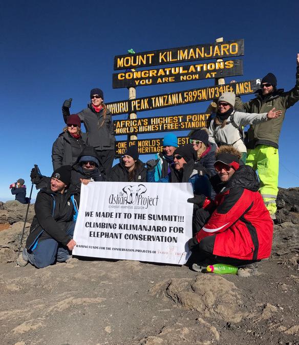Finally on the summit of Mount Kilimanjaro