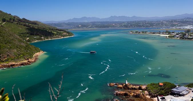 Knysna lagoon in South Africa