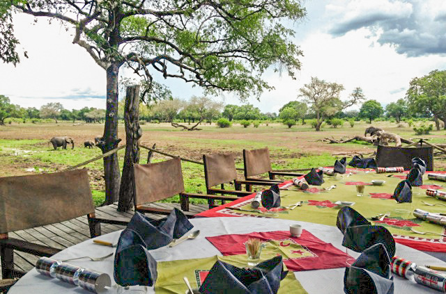 Christmas lunch in South Luangwa