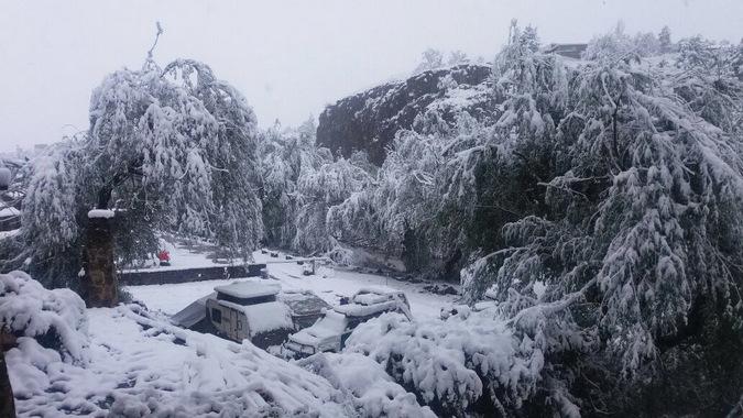 Heavy snowfall in Lesotho