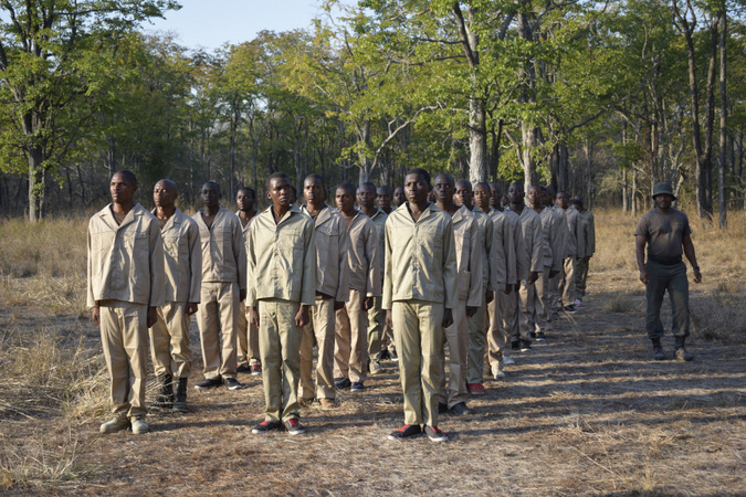Anti-poaching rangers in a national park in Mozambique
