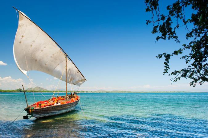 Boat on the shores of Lake Malawi
