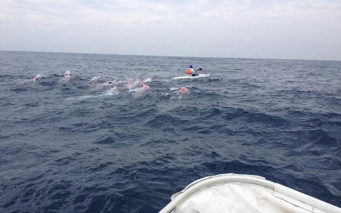 Swimmers in the ocean