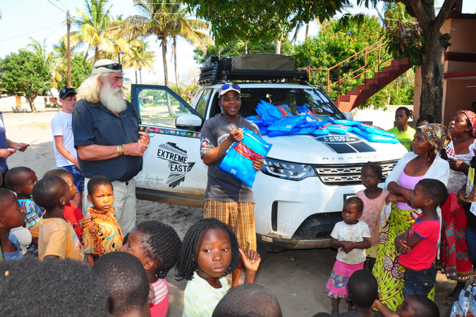 Expedition into north east Africa handing out mosquito nets