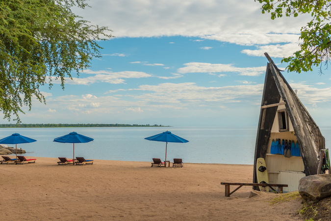 The idyllic shores of Lake Malawi