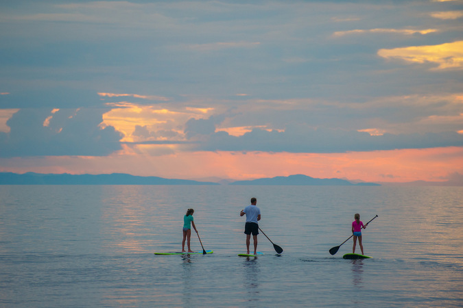 Paddle boarding on Lake Malawi