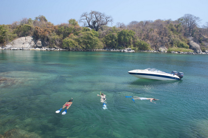 Snorkelling in Lake Malawi