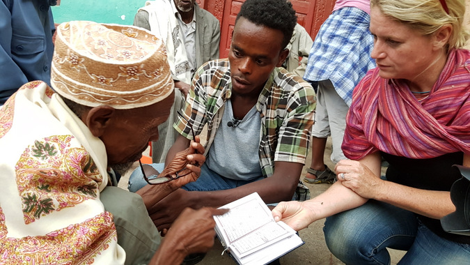 Providing reading glasses to poorly sighted in Ethiopia