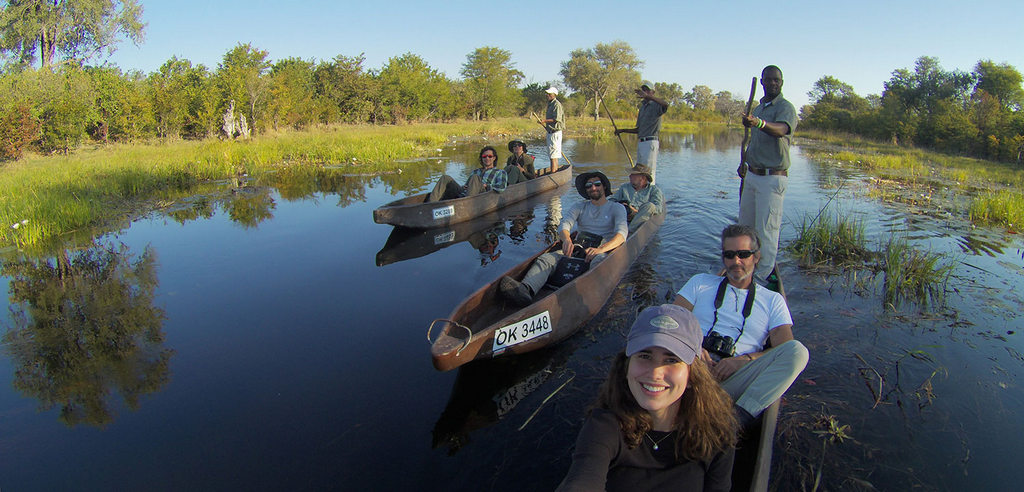 A mokoro journey down the crystal-clear channels of the Okavango Delta or Khwai Concession is an epic way to experience Africa
