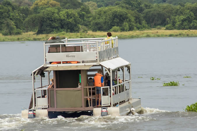 A boat cruise on the Nile in Murchison Falls National Park, Uganda
