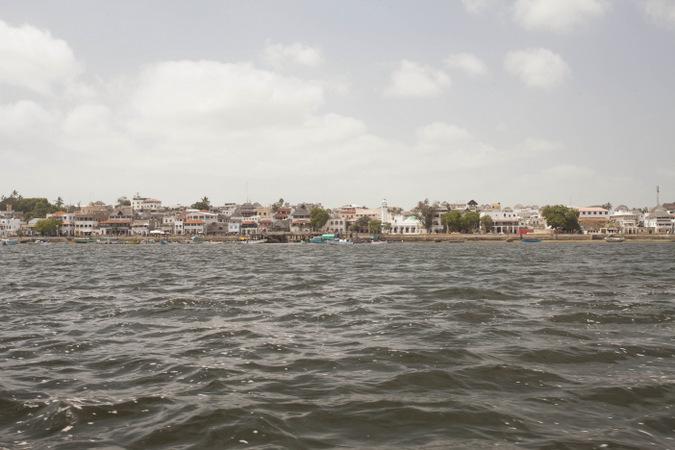 Lamu Town from across the channel in Kenya